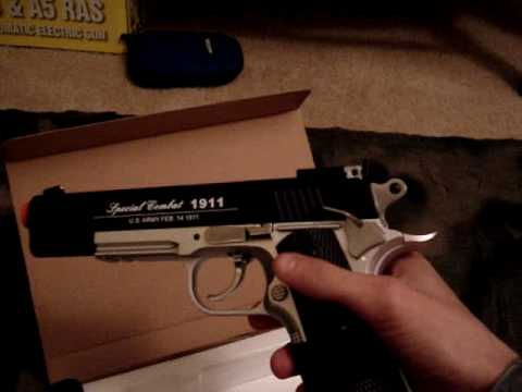 Airsoft Colt 911 win/gun Special Edition co2 pistol экол леди