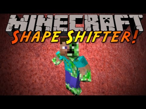 Minecraft Mod Showcase : SHAPE SHIFTER! mod showcase - shape shifter